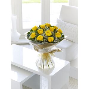 Yellow Rose Hand-tied